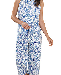 Ming-Floral-Sleeveless-Pajamas